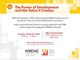 Shell Event at WBENC